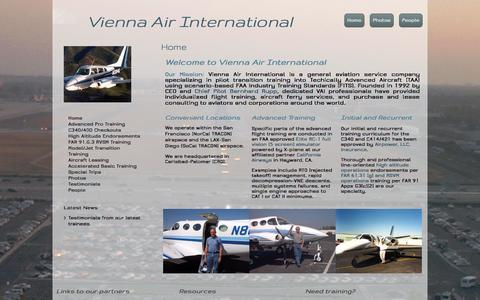 Screenshot of Login Page vienna-air.com - Home - captured Oct. 26, 2014