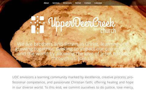 Screenshot of Maps & Directions Page udcchurch.com - Upper Deer Creek Church || - captured Nov. 6, 2014