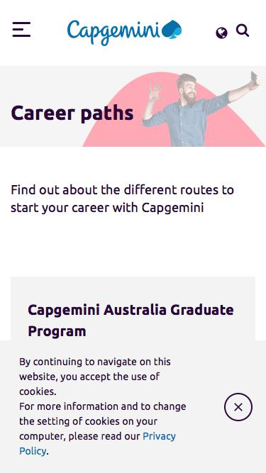 Screenshot of Jobs Page  capgemini.com - Career paths
