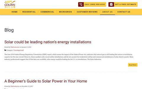 Screenshot of Blog goldensolar.net - Blog - Golden Solar - captured July 22, 2018