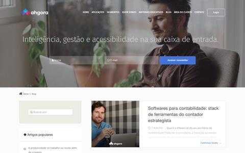 Screenshot of Blog ahgora.com.br - Promova um RH estratégico com nossos artigos - Blog - Ahgora - captured Sept. 22, 2018