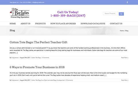 Screenshot of Blog bag-ladies.com - Blog | Bag Ladies - captured Oct. 9, 2017