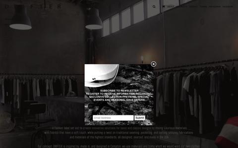 Screenshot of About Page drifter.com - About   DRIFTER - captured Feb. 9, 2016