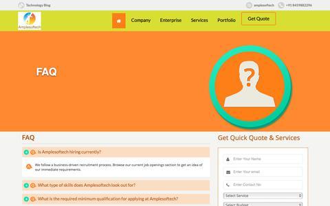 Screenshot of FAQ Page amplesoftech.com - FAQ | amplesoftech & - captured Oct. 4, 2018