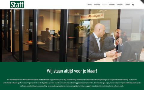 Screenshot of Support Page staff.nl - Support – Staff Support B.V. eHRM oplossingen voor beter presteren - captured Sept. 30, 2017