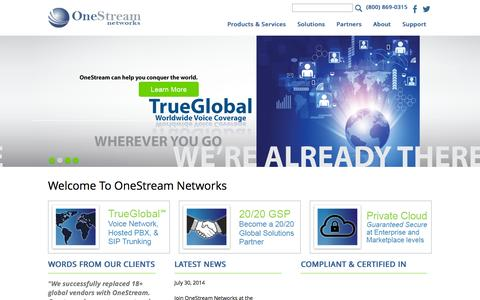 Screenshot of Terms Page onestreamnetworks.com - OneStream Networks - Home - captured Oct. 26, 2014