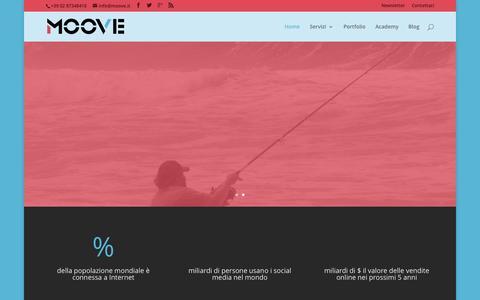 Screenshot of Home Page moove.it - Con Moove: aprire nuovi mercati, contattare nuovi clienti - captured Aug. 14, 2015