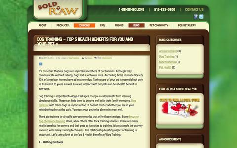 Screenshot of Blog boldraw.com - Blog - Bold Raw - captured Oct. 5, 2014