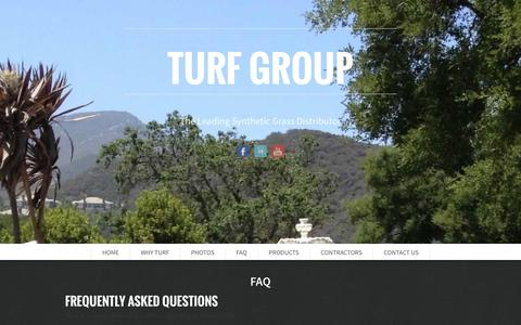 Screenshot of FAQ Page wegreenyourworld.com - FAQ | Synthetic Grass, Synthetic Grass Distributor, Synthetic Turf, Synthetic Turf grass, artificial grass, artificial turf, artificial lawn, Synthetic lawn, california, Imperial county, Kern county, Los Angeles county, Orange county, Riverside count - captured Oct. 6, 2014