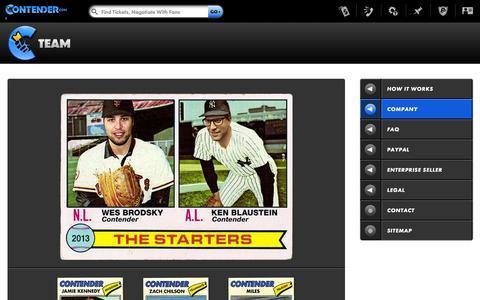 Screenshot of Team Page contender.com - Team Contender.com - captured Oct. 23, 2014
