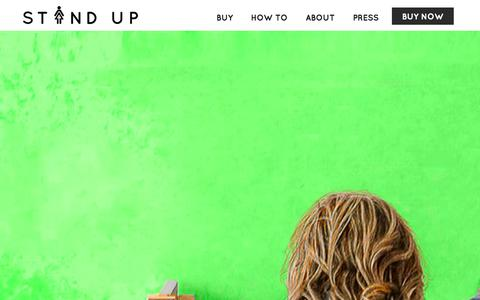 Screenshot of Home Page the-stand-up.com - Stand Up and Join the Urination - captured Oct. 6, 2014