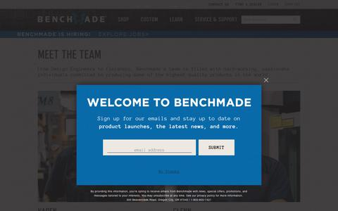 Screenshot of Team Page benchmade.com - Meet the team - captured Nov. 4, 2018