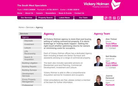 Screenshot of Services Page vickeryholman.com - Agency - Vickery Holman - captured Oct. 7, 2014