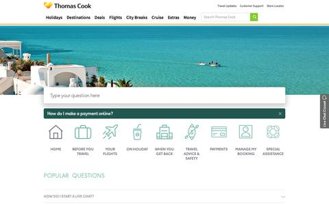 Thomas Cook Support