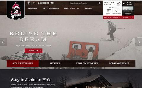 Screenshot of Home Page jacksonhole.com - Jackson Hole Mountain Resort - captured Oct. 1, 2015