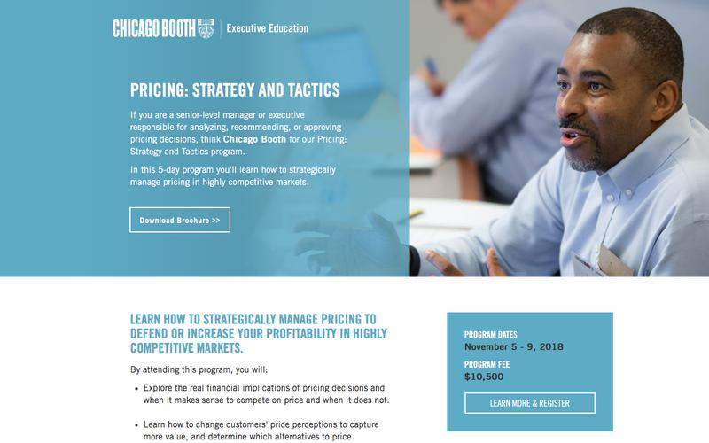 Executive Education at Chicago Booth | Pricing: Strategy and Tactics