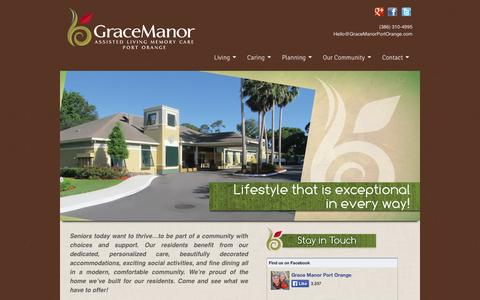Screenshot of Home Page gracemanorportorange.com - Grace Manor Assisted Living - captured Oct. 3, 2014