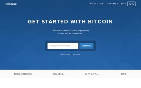 Screenshot of coinbase.com - Bitcoin Wallet - Coinbase - captured March 19, 2016