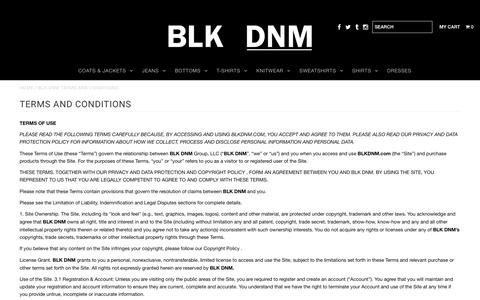 BLK DNM Terms and Conditions