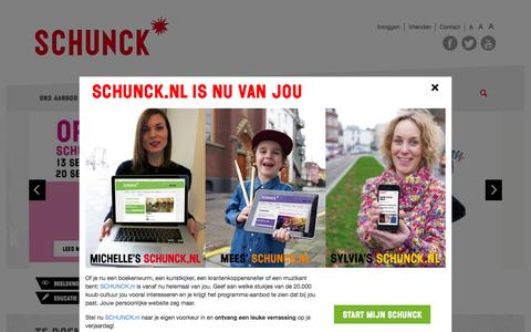 Screenshot of Home Page schunck.nl - SCHUNCK* Home - captured Aug. 2, 2015