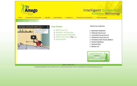 Screenshot of Case Studies Page myamego.com - My Amego: Case Studies - captured Oct. 6, 2014