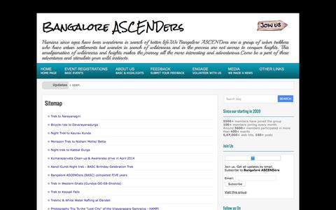 Screenshot of Site Map Page bangaloreascenders.org - Sitemap           |            Bangalore ASCENDers - captured June 2, 2016