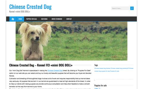 Screenshot of Home Page dog-doll.com - Chinese Crested Dog Kennel «mimi DOG DOLL» - captured Feb. 28, 2018