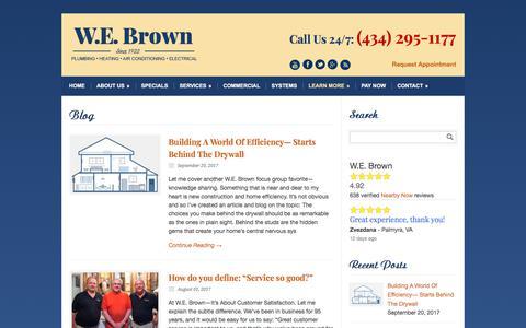Screenshot of Blog webrown.com - Carrier Heating and Cooling Charlottesville VA - captured Nov. 12, 2017