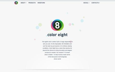 Screenshot of Home Page coloreight.com - ColorEight | Beyond what is visible - captured Sept. 10, 2014