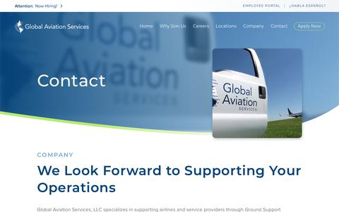 Screenshot of Contact Page globalaviationservicesllc.com - Global Aviation Services | Eagan, Minnesota - captured Nov. 5, 2018