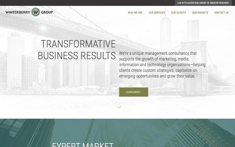 Screenshot of Home Page winterberrygroup.com - Winterberry Group - captured Aug. 13, 2016