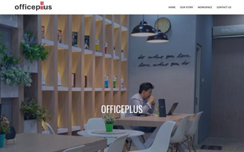 Screenshot of Home Page sewa-kantor.com - Officeplus Coworking Space - captured Dec. 13, 2018