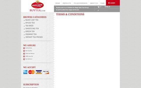 Screenshot of Terms Page buytea.com - Terms & Conditions - captured Nov. 2, 2014