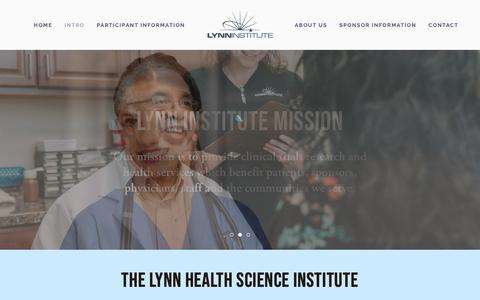 Screenshot of Home Page lhsi.net - Lynn Institute - captured Sept. 30, 2018
