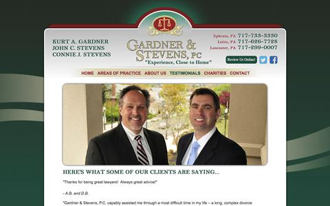 Screenshot of Testimonials Page gardnerstevens.com - Client Testimonials & Reviews | Gardner & Stevens, PC - captured July 15, 2017