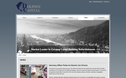 Screenshot of Press Page dolphinig.com - News - captured Oct. 5, 2014