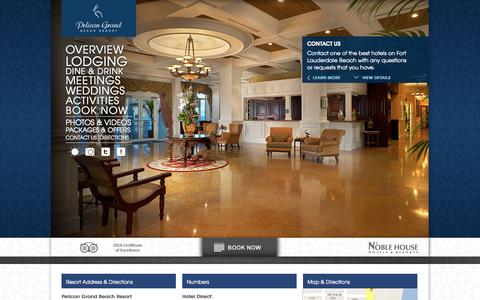 Screenshot of Contact Page pelicanbeach.com - Resorts in Fort Lauderdale Florida | Hotels Fort Lauderdale Beach | Pelican Grand - captured Sept. 19, 2014