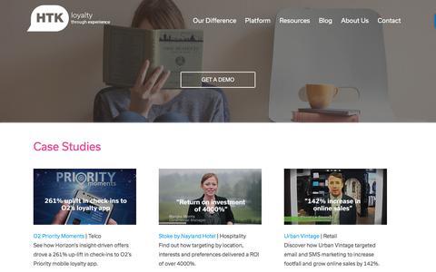 Screenshot of Case Studies Page htk.co.uk - Case Studies - HTK - captured July 10, 2016