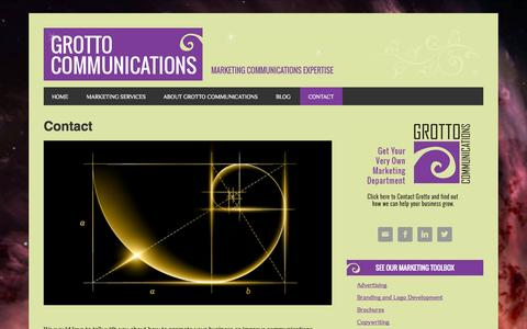Screenshot of Contact Page grottocom.com - Contact | Grotto Communications - captured Oct. 6, 2014