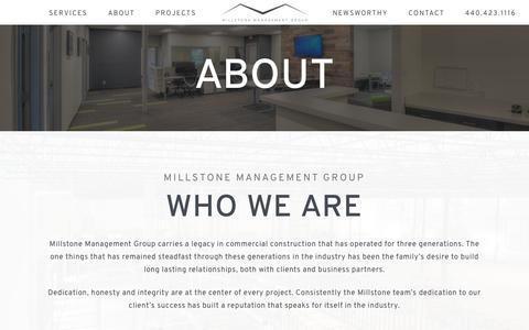 Screenshot of About Page millstonemgmtgroup.com - About | Millstone Management Group - captured Oct. 18, 2018