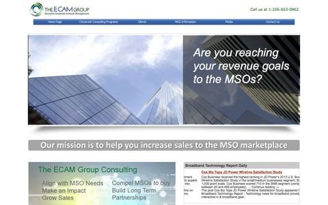 Screenshot of Home Page ecamgroup.com - The ECAM Group - captured Oct. 7, 2014
