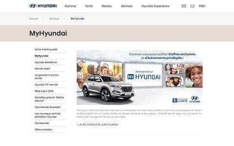 Découvrez un monde d'avantages avec MyHyundaiHyundai Motor France - Hyundai Motor France