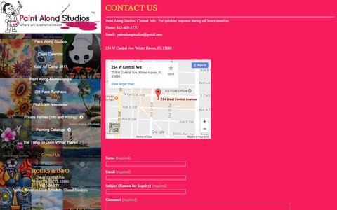 Screenshot of Contact Page paintalongstudios.com - Contact Us Online Information-Paint Along Studios - captured May 13, 2017