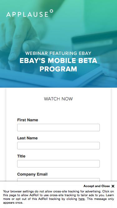 Webinar: eBay's Mobile Beta Program