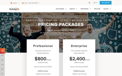 Screenshot of Pricing Page hubspot.com - HubSpot Marketing Agency Partner Program | Pricing - captured June 2, 2017