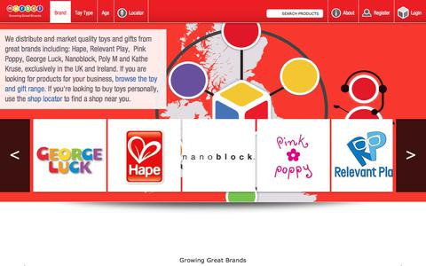 Screenshot of Home Page marbel.co.uk - Toy Distributor, Toy Supplier, Toy Wholesale. Toy Suppliers and Toy Distributors of educational, classic and quality wooden toys.  | Marbel Ltd - captured Sept. 25, 2018