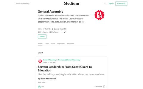 General Assembly – Medium