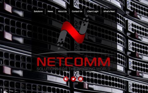 Screenshot of Home Page netcomm.com - Netcomm - captured Feb. 26, 2016