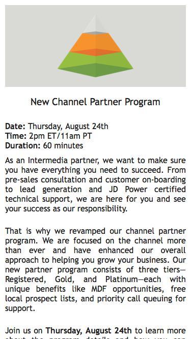 Webinar Registration|New Channel Partner Program 2017