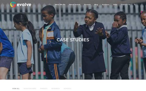 Screenshot of Case Studies Page evolvesi.com - Case Studies | Evolve - captured Dec. 12, 2017